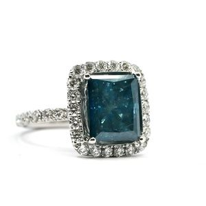 8.67 Carat Blue Magic Diamond Ring